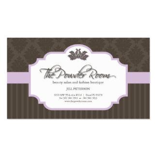 Salon de beauté et carte de visite de boutique de