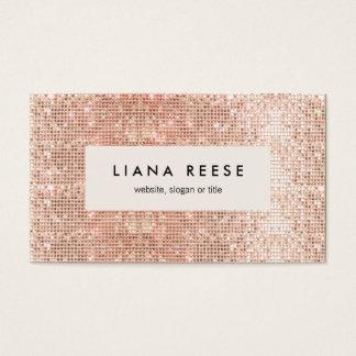 Salon de beauté rose moderne élégant de paillette cartes de visite