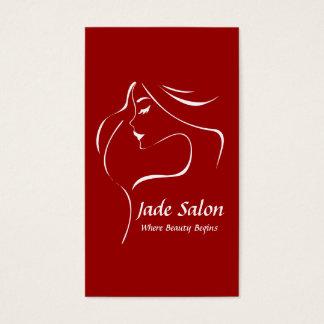 Salon de coiffure de modèle de carte de visite