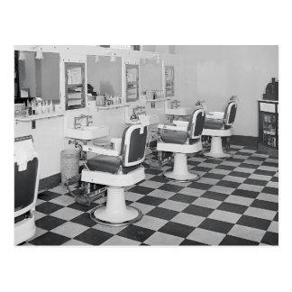Salon de coiffure exécutif, 1935 carte postale