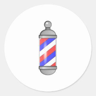 Salon de coiffure Polonais Adhésif Rond