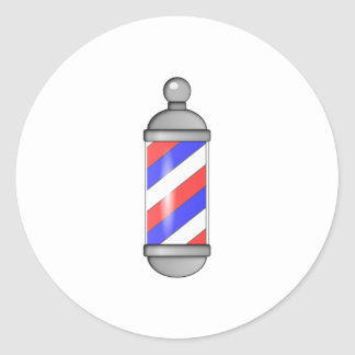 Salon de coiffure Polonais Sticker Rond