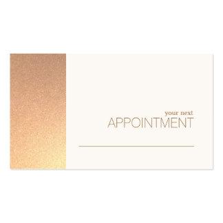 Salon de feuille d'or de FAUX et carte roses de Carte De Visite Standard