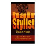 Salon de styliste en coiffure de typographie cartes de visite professionnelles