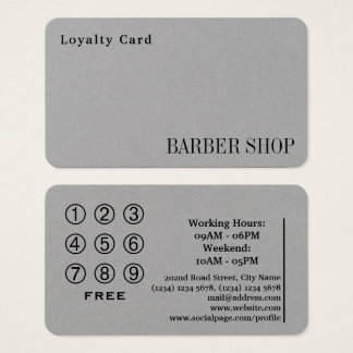 Salon de système à cartes de fidélité