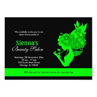 Salon d'ouverture officielle (chaux) carton d'invitation  12,7 cm x 17,78 cm