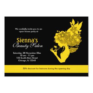 Salon d'ouverture officielle (or) carton d'invitation  12,7 cm x 17,78 cm