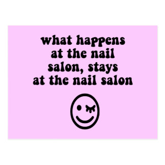 Salon drôle de clou carte postale