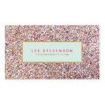 Salon et boutique de beauté colorés de scintilleme cartes de visite personnelles
