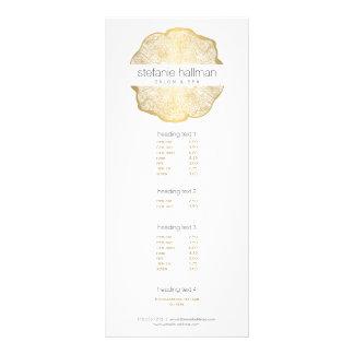 Salon organique d'anneaux d'arbre d'or de beauté carte publicitaire
