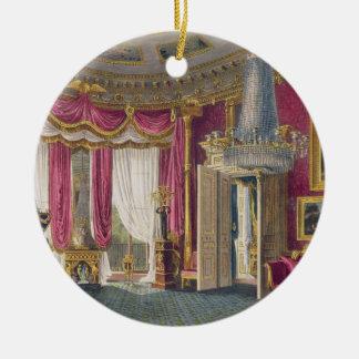 Salon rose de satin (deuxième vue) Carlton Hous Ornement Rond En Céramique