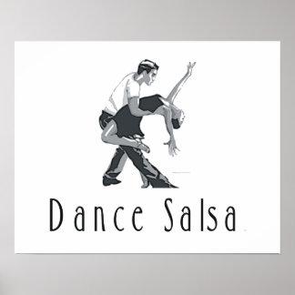 Salsa SUPÉRIEUR de danse Affiche