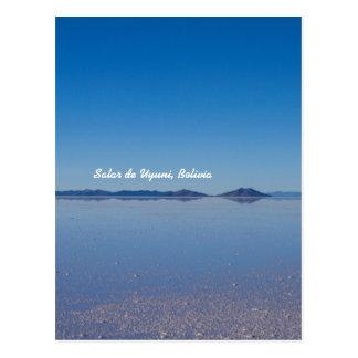 Salt Lake à Salar de Uyuni, Bolivie Cartes Postales