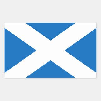 Saltire de l Ecosse drapeau écossais couleur off Stickers Rectangulaires