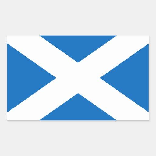 Saltire de l'Ecosse, drapeau écossais (couleur Stickers Rectangulaires