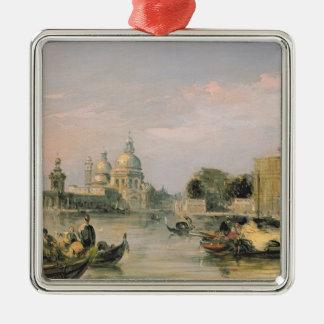 Salut de della Santa Maria, Venise, 19ème siècle Ornement Carré Argenté
