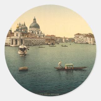Salut de della Santa Maria, Venise, Italie Sticker Rond