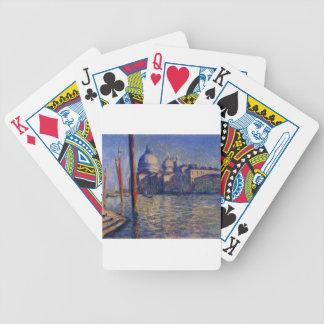 Salut du della de canal grand et Santa Maria Cartes De Poker