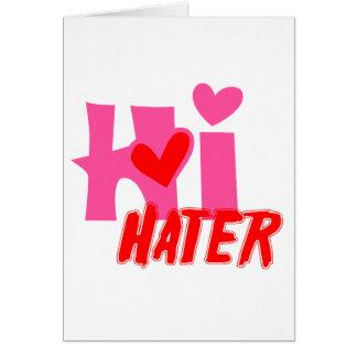 Salut haineux carte de vœux