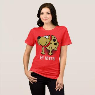 Salut là T-shirt drôle de conception de chiot
