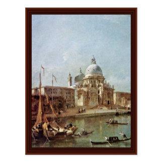Salut Santa Maria Della par Guardi Francesco Carte Postale