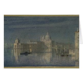 Salut Santa Maria Della, Venise, clair de lune, 18 Carte De Vœux