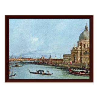 Salut Santa Maria Della, Venise. Par Canaletto Carte Postale