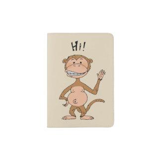 salut singe de bye de singe protège-passeport