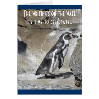 Salutation d anniversaire de pingouin