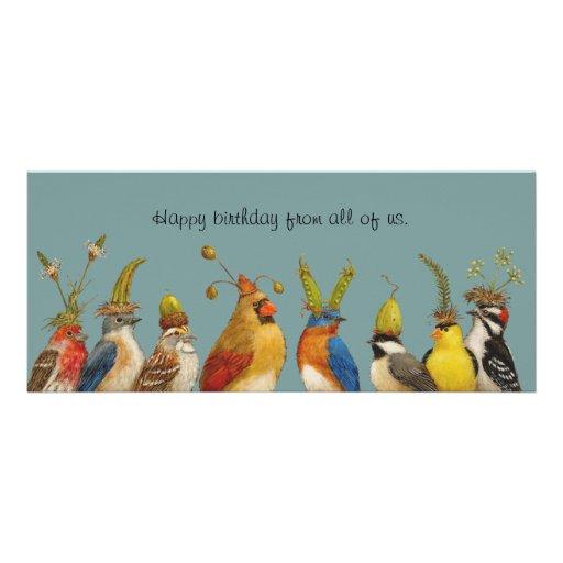 salutation d'anniversaire d'oiseau de la carte pla faire-parts