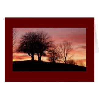 Salutation de coucher du soleil Carte-Vide Carte De Vœux