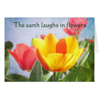 Salutation de jour de la terre de joie de ressort cartes de vœux