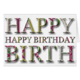 Salutation de joyeux anniversaire avec des lettres carte de vœux