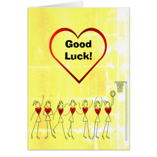 Salutation de net-ball de bonne chance carte de vœux