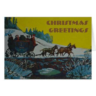 Salutation de Noël - carte de Noël
