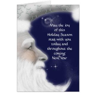 Salutation de Noël de père Carte De Vœux