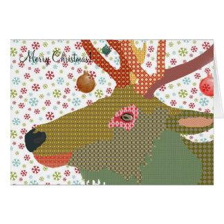 Salutation de Noël du Dakota Carte De Vœux