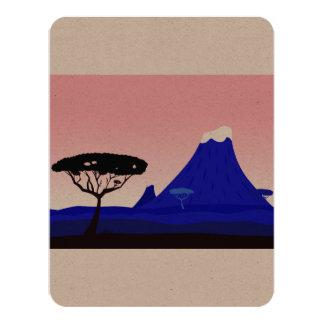 Salutation de papier avec le dessin de l'Afrique Carton D'invitation 10,79 Cm X 13,97 Cm