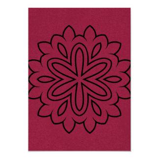 Salutation de papier avec le dessin de mandala carton d'invitation  12,7 cm x 17,78 cm