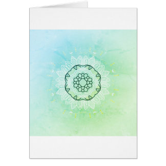 Salutation de papier avec le mandala vintage/   carte de vœux