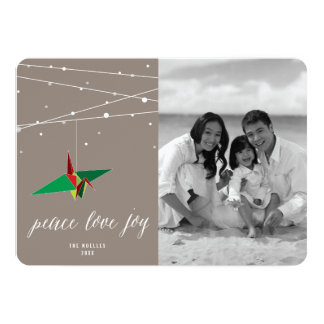 Salutation de papier de photo de vacances de grue carton d'invitation  12,7 cm x 17,78 cm