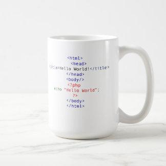 Salutation de PHP de geek Mug Blanc