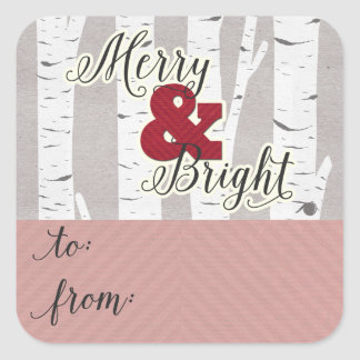 Salutation de vacances joyeuse et lumineuse à et sticker carré