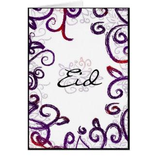 Salutation d'Eid - carte de voeux d'Eid Mubarak