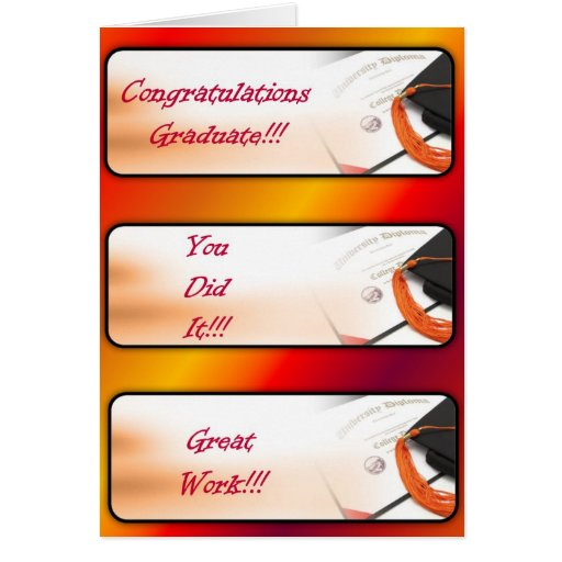 Salutation d'obtention du diplôme Carte-Rouge