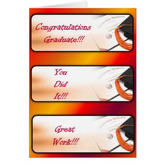 Salutation d'obtention du diplôme Carte-Rouge Carte De Vœux