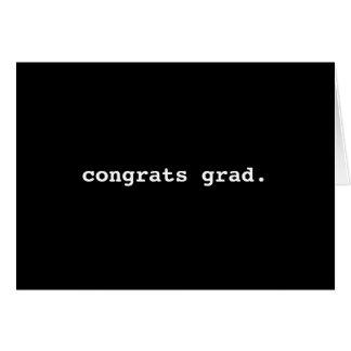 Salutation d'obtention du diplôme de machine à carte de vœux