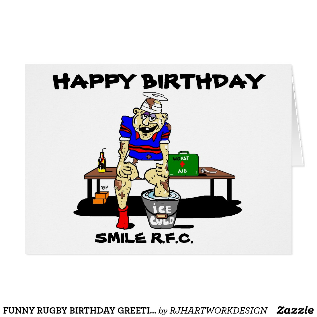 Connu Carte Anniversaire Humour Rugby | coleteremelly site CW57