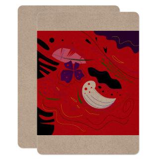 Salutation folklorique brune/Bolivie de Carton D'invitation 12,7 Cm X 17,78 Cm