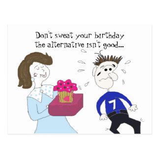 Salutation humoristique d'anniversaire cartes postales